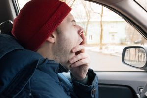 Warning signs that a driver might be drowsy