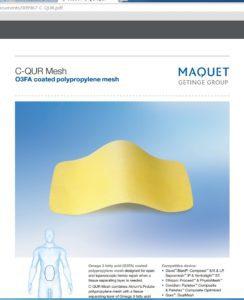 Maquet C-QUR hernia mesh