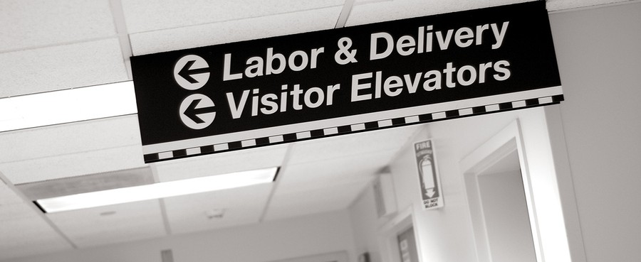 labor & delivery hospital sign
