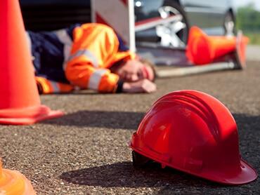 man injured at workplace